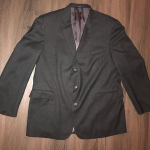 Stafford Gray 100% Wool Mens Size 48L Suit Jacket